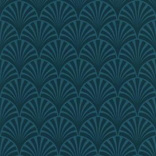 couleurs & matières Tapete 20's Pattern Artdeco Blau