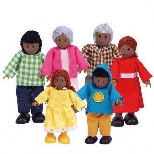 Hape Glückliche Puppenfamilie dunkle Haut E3501