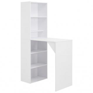 vidaXL Bartisch mit Schrank Weiß 115 x 59 x 200 cm