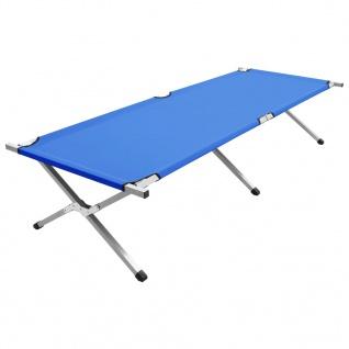 vidaXL Campingbett 210x80x48 cm XXL Blau - Vorschau 1