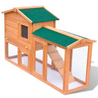 Großer Kaninchenstall Kleintierhaus Hasenstall Holz