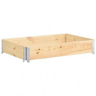 vidaXL Hochbeet 80x120 cm Kiefer Massivholz