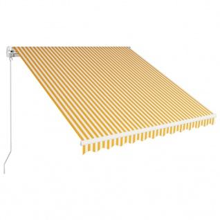 vidaXL Einziehbare Markise Handbetrieben 300 x 250 cm Gelb und Weiß