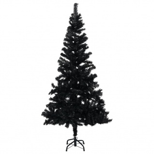 vidaXL Künstlicher Weihnachtsbaum mit Ständer Schwarz 150 cm PVC
