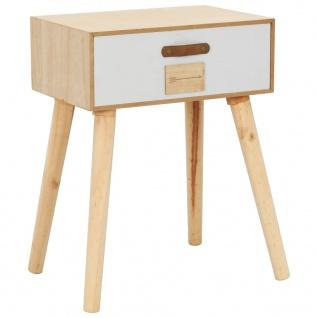 vidaXL Nachttisch mit Schublade 44x30x58, 5 cm Massivholz Kiefer