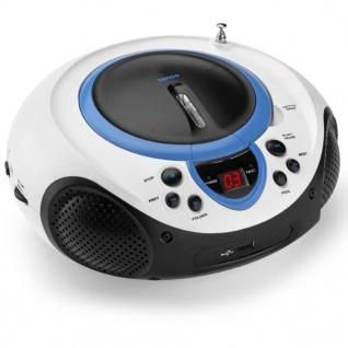 Lenco Radio CD-Player SCD-38 blau und weiß A001218
