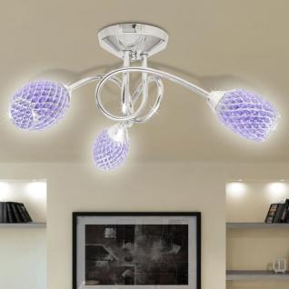 Beleuchtung Decken Leuchte Lampe Deckenlampe lila 3 x G9