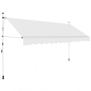 vidaXL Einziehbare Markise Handbetrieben 400 cm Cremeweiß
