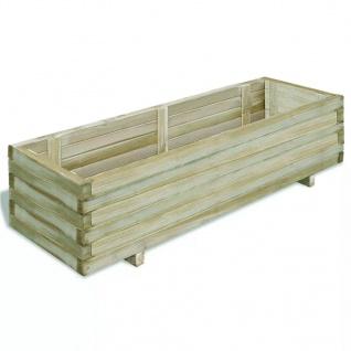 vidaXL Hochbeet 120x40x30 cm Holz Rechteckig