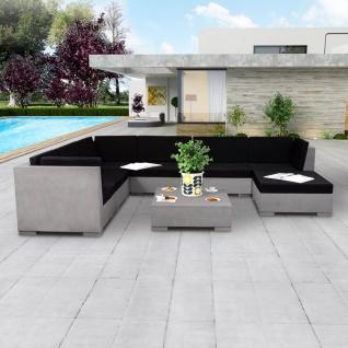 vidaXL 8-tlg. Garten-Lounge-Set mit Auflagen Beton Grau