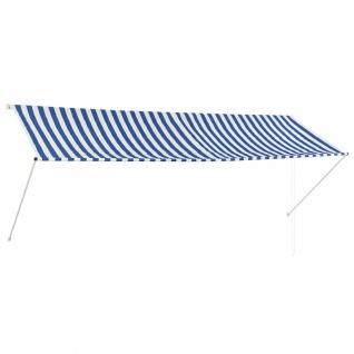 vidaXL Einziehbare Markise 350 x 150 cm Blau und Weiß