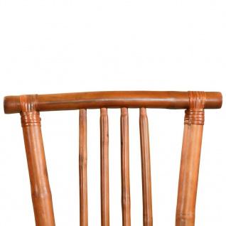 vidaXL Esszimmerstühle 4 Stk. Bambus 43 x 56 x 98 cm Braun - Vorschau 5