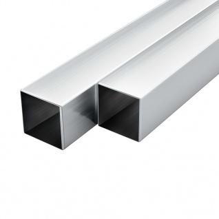 vidaXL Aluminium-Vierkantrohre 6 Stk. Quadratisch 2 m 30x30x2 mm