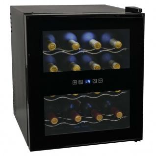 vidaXL Weinkühlschrank Bar-Kühlschrank 48 l 16 Flaschen LCD-Anzeige