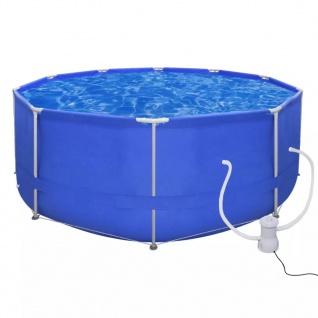 Schwimmbad Pool Schwimmbecken 367 x 122 cm + Pumpe