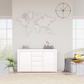 vidaXL Sideboard Weiß 120×36×69 cm Spanplatte