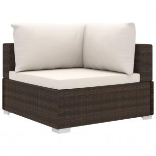 vidaXL 11-tlg. Garten-Lounge-Set mit Auflagen Poly Rattan Braun - Vorschau 5