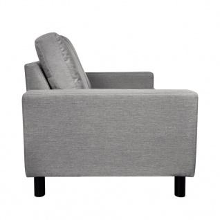 vidaXL Sofa 2-Sitzer Stoff Hellgrau - Vorschau 4