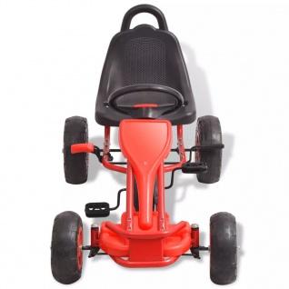 vidaXL Pedal Go-Kart mit Luftreifen Rot - Vorschau 3