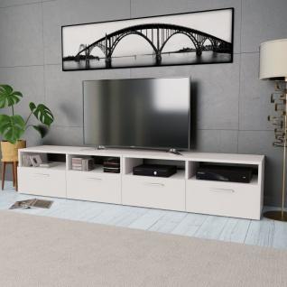 vidaXL 2 Stk. TV-Schränke Spanplatte 95 x 35 x 36 cm Weiß