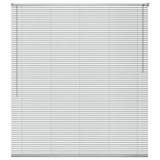 vidaXL Fensterjalousien Aluminium 100x160 cm Silber