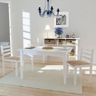 vidaXL Esszimmerstühle 2 Stk. Weiß Gummibaum Massivholz und Samt