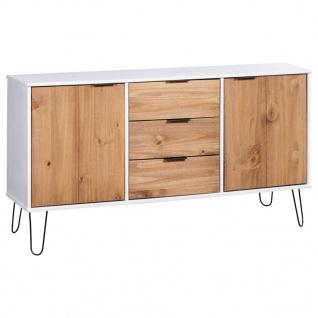 vidaXL Sideboard New York Range Weiß Helles Holz Massivholz Kiefer
