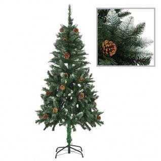 vidaXL Künstlicher Weihnachtsbaum Kiefernzapfen Weißem Glitzer 150 cm