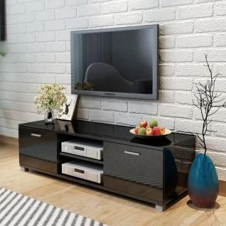 vidaXL TV Schrank Hochglanz Schwarz 140x40, 3x34, 7 cm
