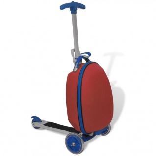 vidaXL Roller mit Trolley-Koffer für Kinder Rot