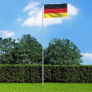 vidaXL Flagge Deutschlands und Mast Aluminium 6 m