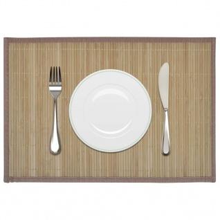 6 Bambus-Platzdeckchen 30 x 45 cm Braun