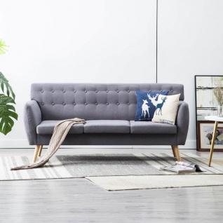 vidaXL 3-Sitzer-Sofa Stoffbezug 172x70x82 cm Hellgrau
