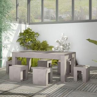 vidaXL 7-tlg. Garten-Essgruppe Beton