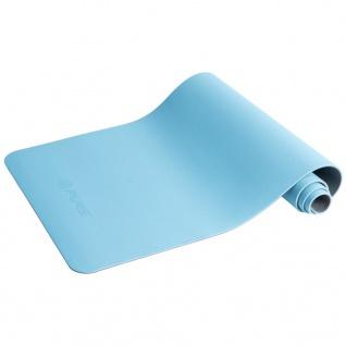 Pure2Improve Yogamatte 173×58×0, 6 cm Blau und Grau