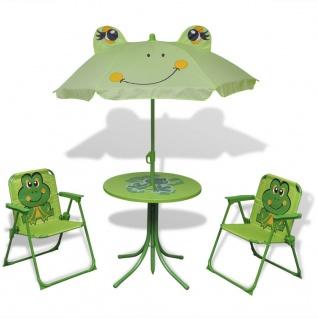 vidaXL 3-tlg. Garten-Bistro-Set für Kinder mit Sonnenschirm Grün