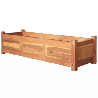 vidaXL Garten-Hochbeet Akazienholz 100x30x25 cm