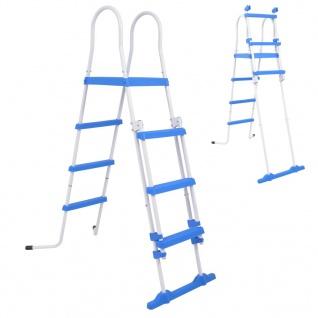 vidaXL Sicherheitsleiter für Aufstellpools 3 Stufen 122 cm