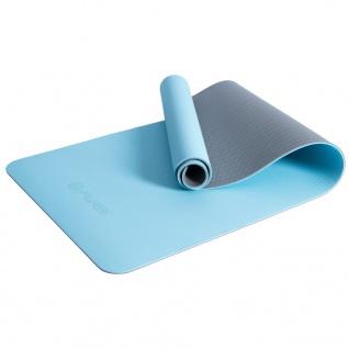 Pure2Improve Yogamatte 173×58×0, 6 cm Blau und Grau - Vorschau 3