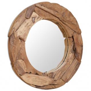 vidaXL Dekorativer Spiegel Teak 80 cm Rund