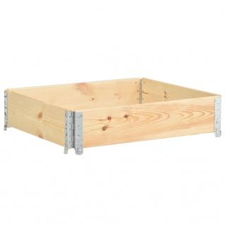vidaXL Hochbeet 100x100 cm Kiefer Massivholz