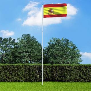 vidaXL Flagge Spaniens und Mast Aluminium 6 m