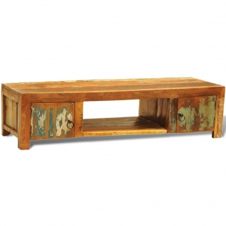 Sideboard TV-Tisch Vintage Retro Massivholz Zwei Türe