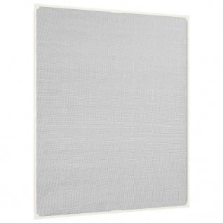 vidaXL Insektenschutz für Fenster Magnetisch Weiß 100x120 cm Fiberglas