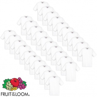 Fruit of the Loom T-shirts 30 Stk. Weiß L Baumwolle