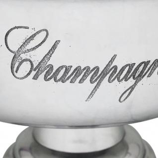 vidaXL Champagner-Kühler Pokal Aluminium Silber - Vorschau 4