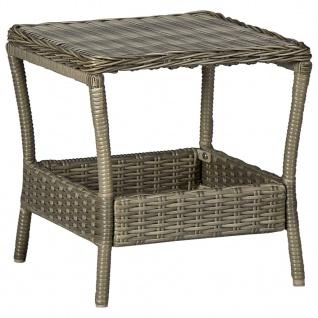 vidaXL 2-tlg. Garten-Lounge-Set mit Auflagen Poly Rattan Braun - Vorschau 2