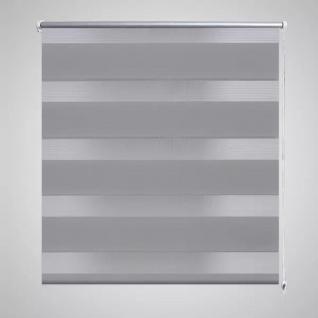 Doppelrollo Seitenzug 100 x 175 cm grau