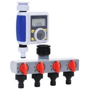 vidaXL Digitale Bewässerungsuhr mit 1 Auslass und Wasserverteiler