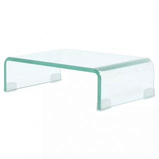 vidaXL TV-Tisch/Bildschirmerhöhung Glas Transparent 40x25x11 cm